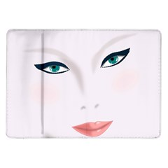 Face Beauty Woman Young Skin Samsung Galaxy Tab 10.1  P7500 Flip Case