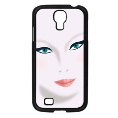 Face Beauty Woman Young Skin Samsung Galaxy S4 I9500/ I9505 Case (Black)