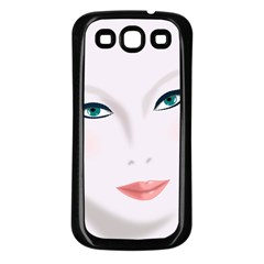 Face Beauty Woman Young Skin Samsung Galaxy S3 Back Case (Black)