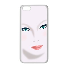 Face Beauty Woman Young Skin Apple iPhone 5C Seamless Case (White)