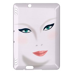 Face Beauty Woman Young Skin Kindle Fire HDX Hardshell Case