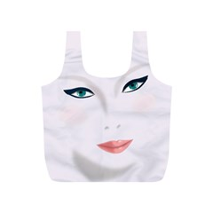 Face Beauty Woman Young Skin Full Print Recycle Bags (S)