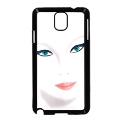 Face Beauty Woman Young Skin Samsung Galaxy Note 3 Neo Hardshell Case (Black)