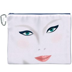 Face Beauty Woman Young Skin Canvas Cosmetic Bag (XXXL)