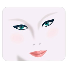 Face Beauty Woman Young Skin Double Sided Flano Blanket (Small)
