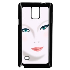 Face Beauty Woman Young Skin Samsung Galaxy Note 4 Case (Black)