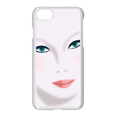 Face Beauty Woman Young Skin Apple iPhone 7 Seamless Case (White)