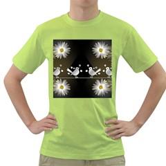 Daisy Bird Twitter News Gossip Green T-Shirt