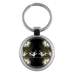 Daisy Bird Twitter News Gossip Key Chains (Round)