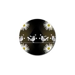 Daisy Bird Twitter News Gossip Golf Ball Marker (10 pack)