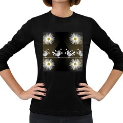 Daisy Bird Twitter News Gossip Women s Long Sleeve Dark T-Shirts