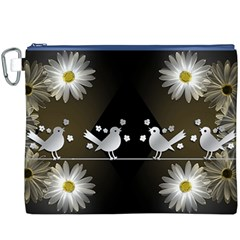 Daisy Bird Twitter News Gossip Canvas Cosmetic Bag (XXXL)