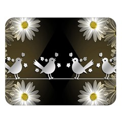 Daisy Bird Twitter News Gossip Double Sided Flano Blanket (Large)