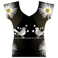Daisy Bird Twitter News Gossip Women s V-Neck Cap Sleeve Top