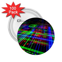 Electronics Board Computer Trace 2.25  Buttons (100 pack)