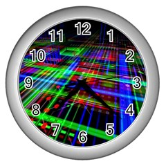 Electronics Board Computer Trace Wall Clocks (Silver)