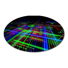 Electronics Board Computer Trace Oval Magnet