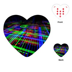 Electronics Board Computer Trace Playing Cards (Heart)
