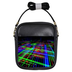 Electronics Board Computer Trace Girls Sling Bags