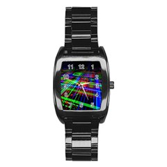 Electronics Board Computer Trace Stainless Steel Barrel Watch