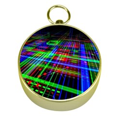 Electronics Board Computer Trace Gold Compasses