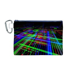 Electronics Board Computer Trace Canvas Cosmetic Bag (M)