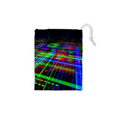 Electronics Board Computer Trace Drawstring Pouches (XS)