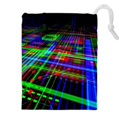 Electronics Board Computer Trace Drawstring Pouches (XXL)