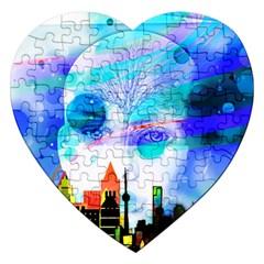 Dirty Dirt Spot Man Doll View Jigsaw Puzzle (Heart)