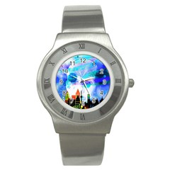 Dirty Dirt Spot Man Doll View Stainless Steel Watch