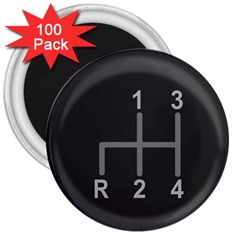 Gearshift Gear Stick Gear Engine 3  Magnets (100 pack)