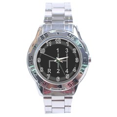 Gearshift Gear Stick Gear Engine Stainless Steel Analogue Watch