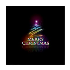 Merry Christmas Abstract Tile Coasters