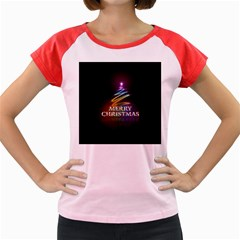Merry Christmas Abstract Women s Cap Sleeve T-Shirt