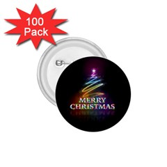Merry Christmas Abstract 1.75  Buttons (100 pack)