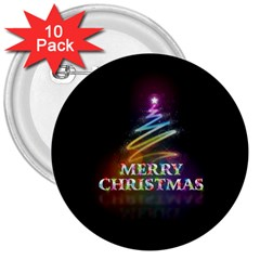 Merry Christmas Abstract 3  Buttons (10 pack)