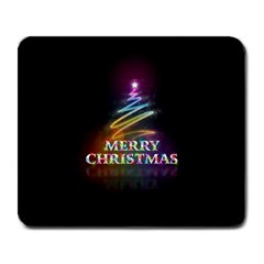 Merry Christmas Abstract Large Mousepads