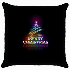 Merry Christmas Abstract Throw Pillow Case (Black)