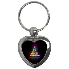 Merry Christmas Abstract Key Chains (Heart)