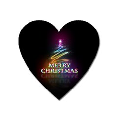 Merry Christmas Abstract Heart Magnet