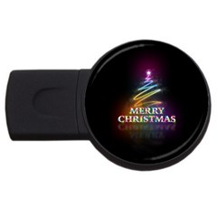 Merry Christmas Abstract USB Flash Drive Round (2 GB)