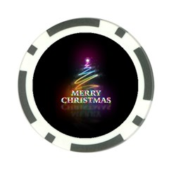 Merry Christmas Abstract Poker Chip Card Guards