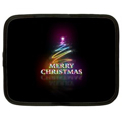 Merry Christmas Abstract Netbook Case (Large)