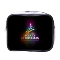 Merry Christmas Abstract Mini Toiletries Bags