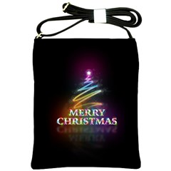 Merry Christmas Abstract Shoulder Sling Bags