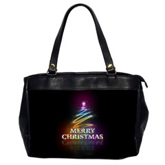 Merry Christmas Abstract Office Handbags (2 Sides)