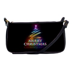 Merry Christmas Abstract Shoulder Clutch Bags