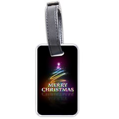 Merry Christmas Abstract Luggage Tags (One Side)