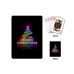 Merry Christmas Abstract Playing Cards (Mini)