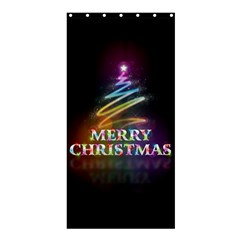 Merry Christmas Abstract Shower Curtain 36  x 72  (Stall)